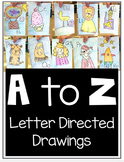 Alphabet Letter Directed Drawings