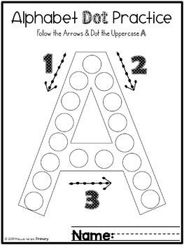 Alphabet Letter Dot Pages