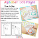 Alphabet Letter Dot Pages  | Distance Learning