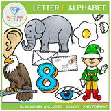 Alphabet Letter E Clip Art - Beginning Sounds