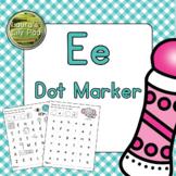 Alphabet Letter E Dot Marker Center