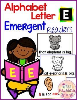 Alphabet Letter E Emergent Readers