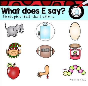 Alphabet -- Letter E SMARTboard Activities (Smart Board)