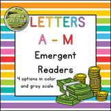 Alphabet Letter Emergent Readers A to M