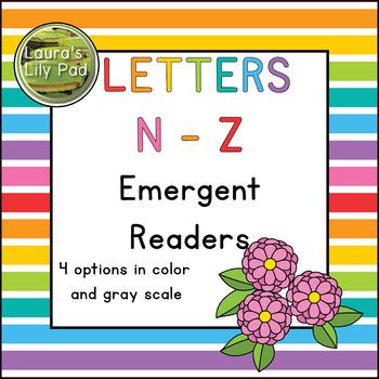 Alphabet Letter Emergent Readers Bundle N to Z