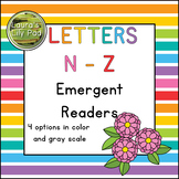 Alphabet Letter Emergent Readers N to Z