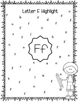 Alphabet Letter F! (10 Letter Recognition/Sound Activites) for the Letter F