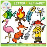 Alphabet Letter F Clip Art - Beginning Sounds