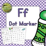 Alphabet Letter F Dot Marker Center