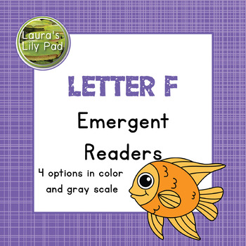 Alphabet Letter F Emergent Readers Set