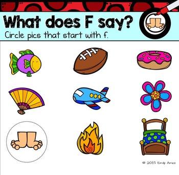 Alphabet -- Letter F SMARTboard Activities (Smart Board)