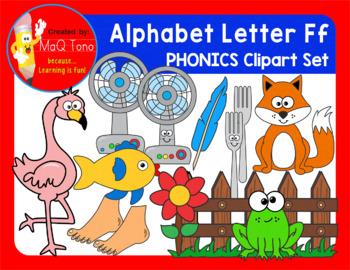 Alphabet Letter Ff Phonics Clipart Set