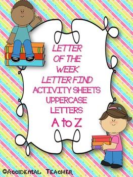 Alphabet Letter Find Activity Sheets