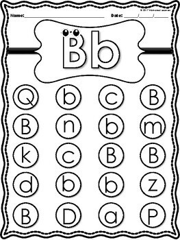 Alphabet Letter Find Back to School