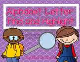 Alphabet Letter Find - Highlight, Color or Hole Punch