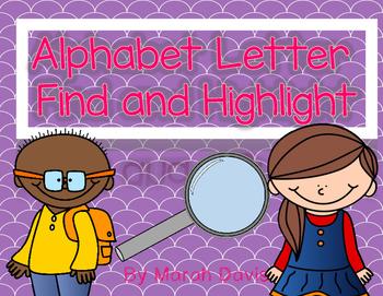 Alphabet Letter Find - Highlight, Color or Hole Punch
