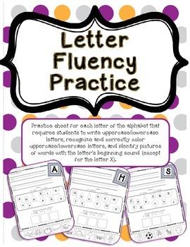 Alphabet (Letter) Fluency Practice