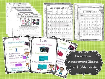 Alphabet Letter Fluency Print and Go Assessments and Centers