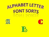 Alphabet Letter Font Sorts - sorting letters with different font styles