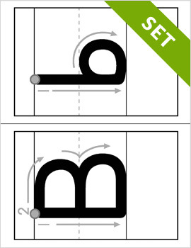 Alphabet Letter Formation Cards - PRINTABLE {BW}
