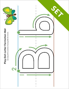 Alphabet Letter Formation Play-Doh Mat Activity Set {COLOR}