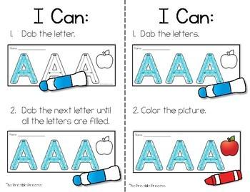 Alphabet Letter Formation Practice: No Prep Bingo Dabbers Pages
