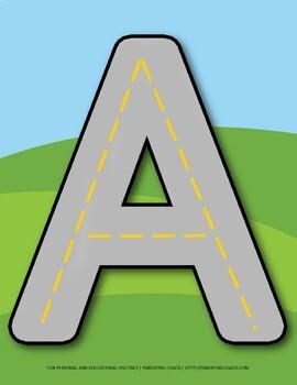 Alphabet Letter Formation Roads