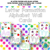 Alphabet Letter Formation Wall Cards: Bright Asterisks