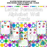 Alphabet Letter Formation Wall Cards: Bright Circles