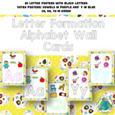 Alphabet Letter Formation Wall Cards: Sugar Skulls