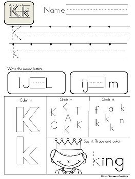Alphabet Letter Formation and Letter Recognition Practice Pages