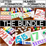 Alphabet Letter Formation and Number Formation Practice: No Prep BUNDLE