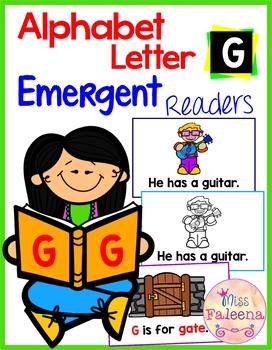 Alphabet Letter G Emergent Readers