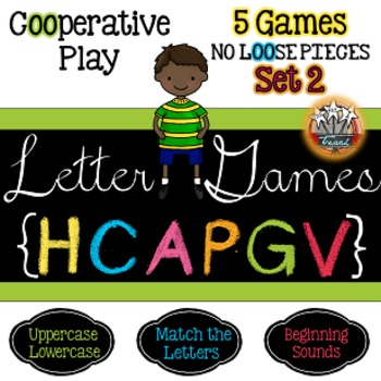 Alphabet Letter Games Word Work SET 2 {5 GAMES}