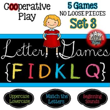 Alphabet Letter Games Word Work SET 3  {5 GAMES}