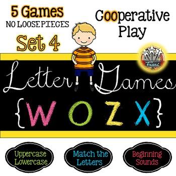 Alphabet Letter Games Word Work SET 4 {5 GAMES}