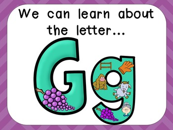 Alphabet Letter Gg PowerPoint Presentation- Letter ID, Sou