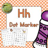 Alphabet Letter H Dot Marker Center