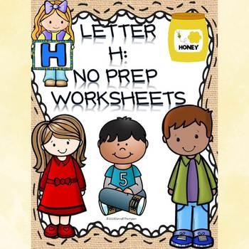 """Alphabet Letter of the Week """"Letter H"""" (Alphabet Worksheets)"""
