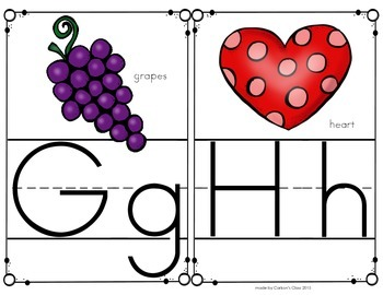 Alphabet Letter Half-Page Posters -- Ball & Stick