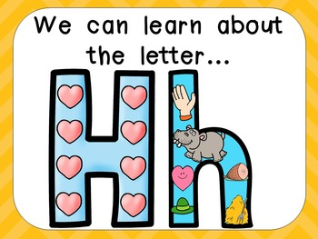 Alphabet Letter Hh PowerPoint Presentation- Letter ID, Sounds, and Handwriting