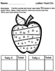 Alphabet Letter Hunt and Find with tally marks - Apples