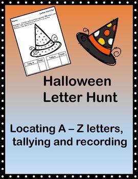 Alphabet Letter Hunt/Letter Find - Halloween