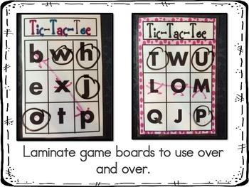 Alphabet Letter Identification Tic Tac Toe