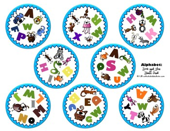 "Alphabet Letter Identification and Animal ""Spot It"" Game!"
