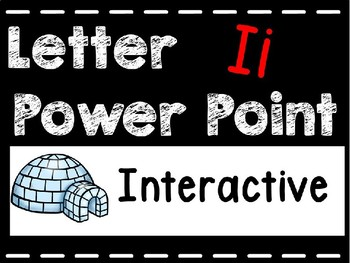 Alphabet Letter Ii Interactive Power Point. Kindergarten