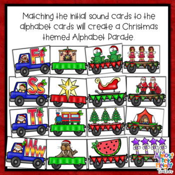 Christmas Alphabet Letter & Initial Sound Matching Activity
