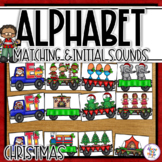 Christmas Alphabet Matching and Initial Sound Matching Activity