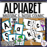 Winter Alphabet Matching and Initial Sound Matching Activities