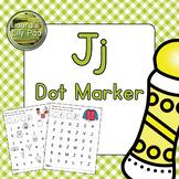 Alphabet Letter J Dot Marker Center